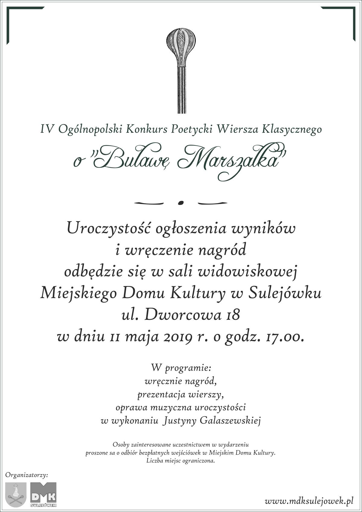 11052019 Iv Ogólnopolski Konkurs Poetycki Wiersza