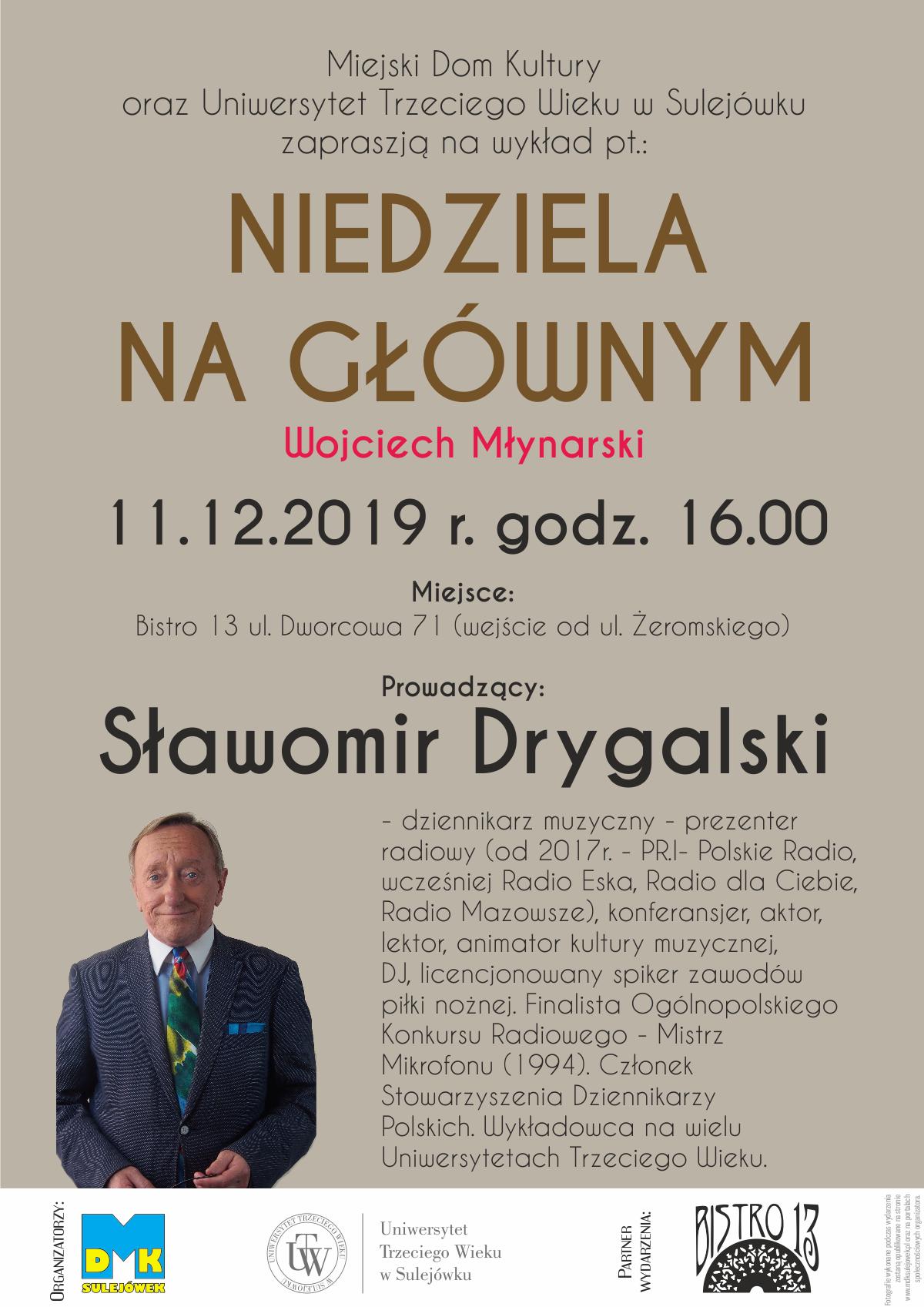 11122019 Niedziela Na Głównym Wojciech Młynarski